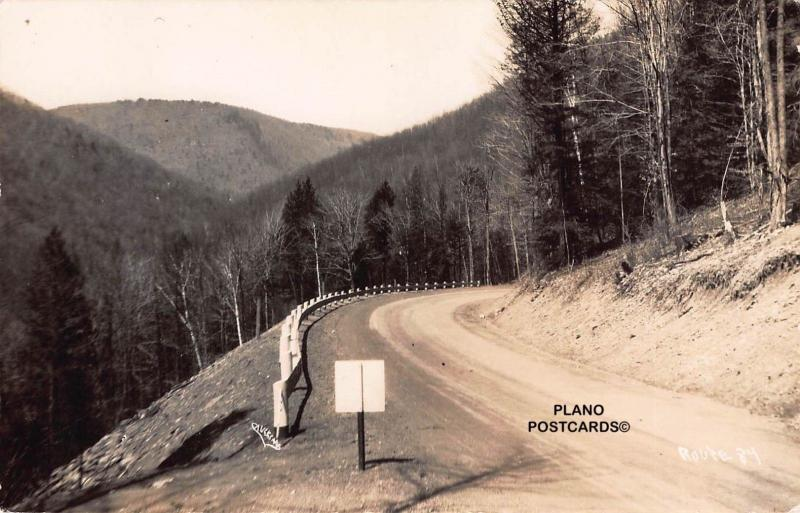 ROUTE 84, UNKNOWN LOCATION, PHOTO BY CAULKINS RPPC REAL PHOTO POSTCARD