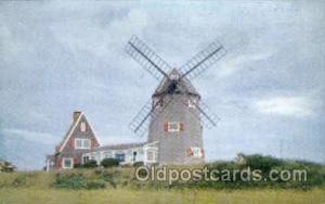 Windmill, Brewster, Cape Cod, Massachusetts, USA Windmills Postcard Post Card...