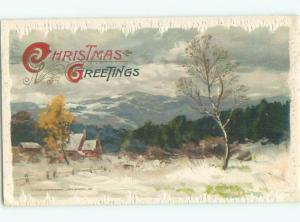 Divided-Back CHRISTMAS SCENE Great Postcard W9420
