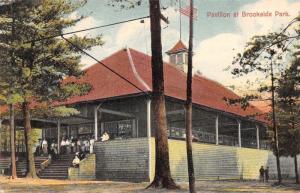 Orange Massachusetts~Brookside Park Pavilion~Victorian Ladies on Steps~1908 PC