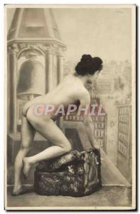 Postcard Old erotic Nude Woman
