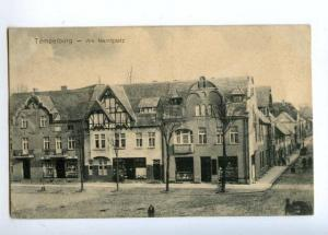 175060 Poland Czaplinek TEMPELBURG Market Place FIELD POST old