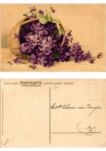 CPA Wo Blumen, da Freude Meissner & Buch Litho Serie 1414 (730472)