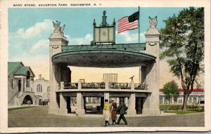 Rochester New York~Edgerton Park Band Stand~1920s Fashion Gals~Postcard