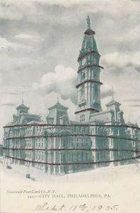 City Hall (Exterior), Philadelphia, Pennsylvania, 1900-1910s Glitter Detail
