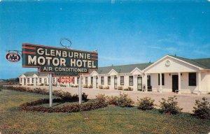 Woodville Mississippi Glenburnie Motor Hotel Vintage Postcard AA16706