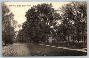 Sheffield Massachusetts~South Main Street Homes~Dirt Road Looking South~c1910 PC