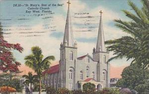 Florida Key West St Mary's Star Of The Sea Catholic Church 1957