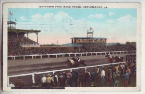 P1127 1924 used postcard jefferson horse race track, new orleans LA