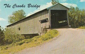 Indiana Parke County Built In 1856 Over Little Raccoon Creek The Crooks Cover...