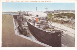 Saint John, New Brunswick, Canada, 1910s-20s; Dry Dock