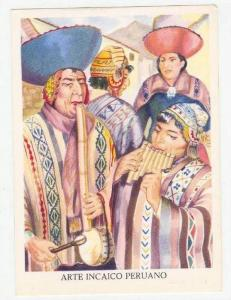 Arte Incaico Peruano, Artist Miguel GIRBAU,  Musicos Indios-Cuzco, 1950-60s