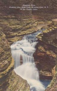 Diamond Falls - Watkins Glen NY, New York - Linen
