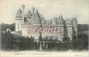 Old Postcard Pierrefonds Chateau (Facade East)