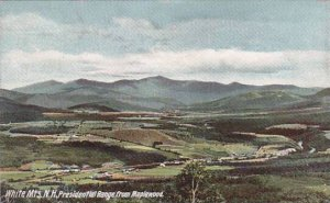 New Hampshire White Mountains Presidentian Range From Maplewood 1907