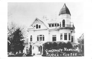 Topeka Kansas Governors Mansion Real Photo Antique Postcard K95880