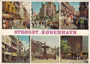 Denmark Copenhagen Stroget The Pedestrian Street Multi View