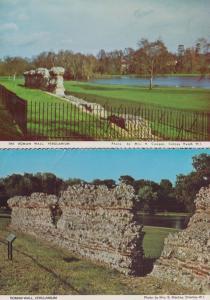 Roman Rome Wall Verulamium Hertfordshire 2x Postcard