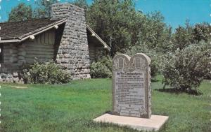 Ten Commandments Stone , International Peace Gardens , Canada , 50-60s