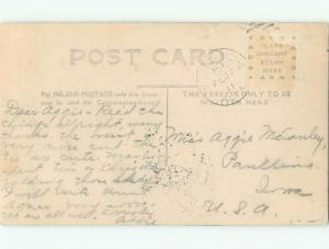 Pre-1920 rppc EXAGGERATION BIG CABBAGE Postmarked Strathmore By Calgary AB i7756