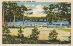 Massachusetts Fort Devens Miror Lake Bathing Beach