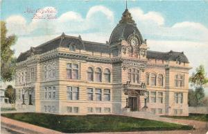 Flint Michigan~New Beaux Arts Structure: City Hall 1910 Postcard, Built 1855