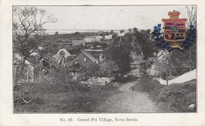 GRAND PRE , Nova Scotia, 1906 ; Village Street , Ver-2