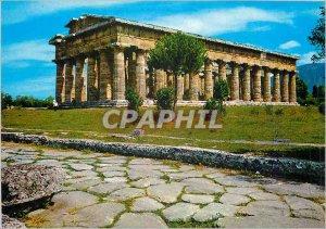 Postcard Modern Paestum Temple of Neptune, and Coronation Road