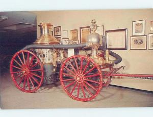 Unused Pre-1980 ANTIQUE FIRE ENGINE AT FIREMEN MUSEUM Hudson New York NY d9447