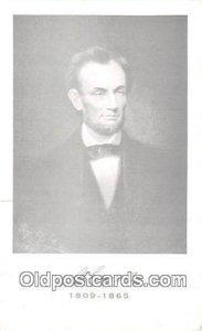 A Lincoln 1809-1865 Non Postcard Backing Unused