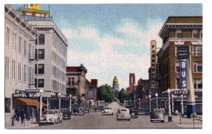 P1260 vintage unused postcard old cars paramount theater capitol ave cheyenne wy