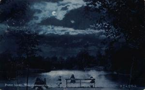 Park Lake Wolverhampton Moonlight 1904 Postcard