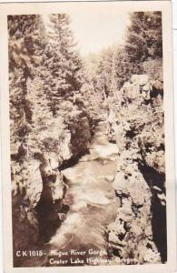 Oregon Crater Lake Highway Rogue River Gorge Real Photo
