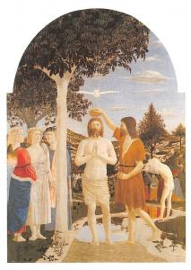 The Baptism of Christ Piero della Francesca Egg on popular