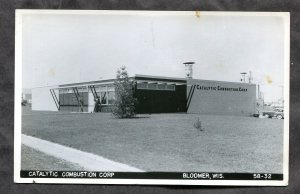 dc092 - BLOOMER Wis 1950s Catalytic Combustion Corp Real Photo Postcard