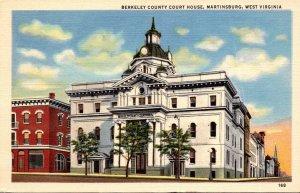 West Virginia Martinsburg Berkeley County Court House Curteich