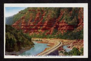 CO The Pagodas Red Canyon Dotsero Colorado Postcard Rio Grand Railroad Tracks