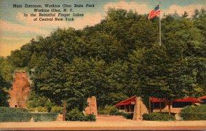 New York Watkins Glen State Park Main Entrance 1953 Curteich