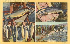 Fishing Is Good In the Northwest OR, WA  Linen