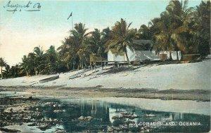 A coral island Oceania Tahiti F. Homes 1906 postcard