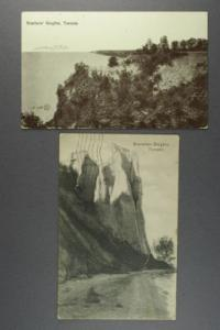 Scarboro Heights. bluffs on Lake Ontario 2 cards c1909