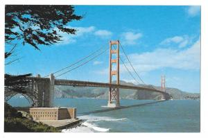 CA San Francisco Golden Gate Bridge Vintage Postcard