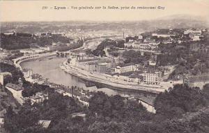 Vue Generale Sur La Saone, Prise Du Restaurant Gay, Lyon (Rhône), France, 19...