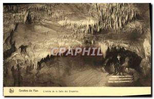 Old Postcard Han Caves L & # 39entree the Hall of Draperies