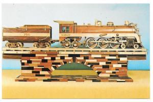 Railroad Wooden Model Train Wabash Cannonball 4-6-4 No 700