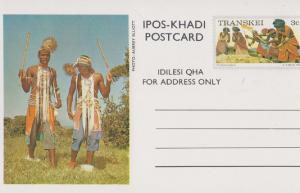 Ipos Khadi South African Drum Fishing Net Tribal Postcard