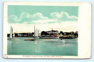 Postcard RI Watch Hill Narragansett House & Watch Hill Bay 1908 G20