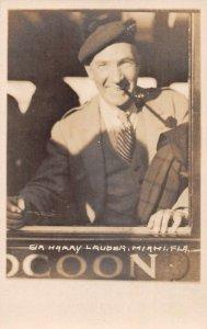 Miami Florida Sir Harry Lauder Real Photo Vintage Postcard AA24955