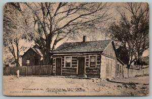 Prescott Arizona~Pioneer School House~Picket Fence~Barn~WH Timerhoff~1910 Sepia