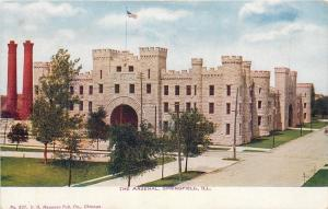 Springfield IL~The Arsenal~Castle~2nd & Monroe~Demolished 1940s~1910 VO Hammon